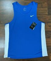 New Nike Dri Fit Mens Jersey Blue Size Large