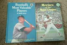 2 Vintage Books Heroes of Major Leagues 1967 & Most Valuable Players 1966 Illus.