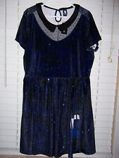 BBC Doctor Who Tardis Galaxy Dress NWT Juniors Size 3X Hot Topic Exclusive