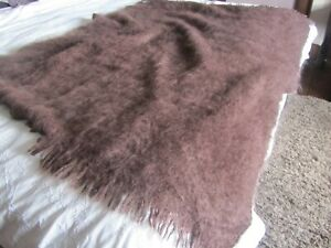 100% mohair throw in brown from the Wool Company