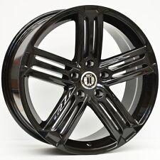 """18"""" INCH AG GT R VW STYLE WHEELS 18X8 RIMS VW GOLF GT GT-R BLACK"""