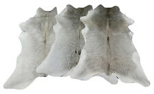Gray Cowhide Rug Calf Skins Set of Three Gorgeous Calfskins Size 35 X 28 inches