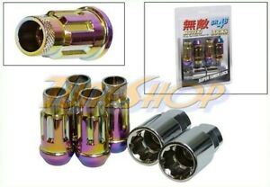 MUTEKI SR48 4 WHEELS LOCK LUG NUTS SET 12X1.5 1.5 ACORN RIMS OPEN END NEO-C L