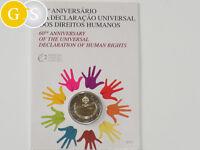 2 Euro BU 60 Jahre Menschenrechte Human Rights Portugal 2008 Blister Coincard