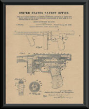 Thompson Submachine Gun Patent Reprint On 90 Year Old Paper Mafia Gangster *P039