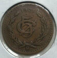 1921 Mexico 5 Centavos - Nice Color
