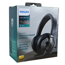 NEW Genuine PHILIPS Hi-Fi Over Earphone Strong Bass 40mm Drive Stereo Headphones