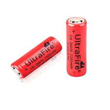 2PCS UltraFire 3.7V 7200mAh 26650 Rechargeable Li-ion Battery for Flashlight