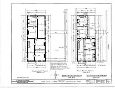 Home Plans, Colonial Brick Townhouse, spacious traditional house on a narrow lot