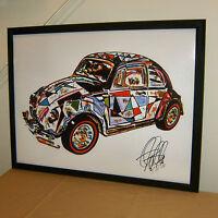 Hot Wheels 1966 Beetle VW Bug Redline Car Racing Poster Print Wall Art18x24