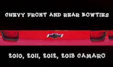 Chevrolet Camaro Front & Rear Bowtie Stickers 2010 2011 2012 2013