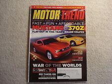 Motor Trend 2009 February Mustang & 370Z Corvette vs Ferrari vs Porsche & Nissan