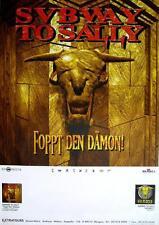 """Subway to Sally TOUR POSTER/MANIFESTO CONCERTO """"foppt il demone Tour 1996"""""""