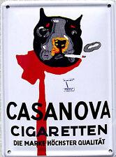 Mini-Blechschild Casanova Cigaretten, 8 x 11 cm