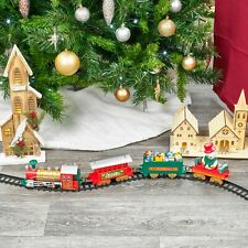 39pc Christmas Musical light Up Train & 7M Track Toys Set Kids Party Gift Set
