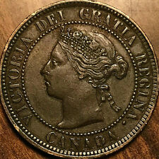 1884 CANADA LARGE CENT PENNY LARGE 1 CENT - Obverse #2 - Excellent example!