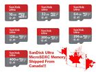 SanDisk Ultra 256GB 128GB 64GB 32GB 16GB MicroSD Micro SD SDXC Flash Memory Card