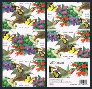 United States 4153-4156d booklet,MNH. Pollination.Bat,Bird,Butterfly,Bumblebees