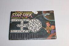 Vintage Incredible Intergalactic Star Trek Crossword Puzzle w/Answer Sheet 1976