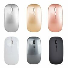 Noiseless Click Wireless Mouse 2.4GHz Optical Mice For Macbook PC Laptop Tablet