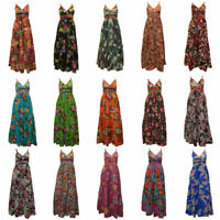 100% COTTON BOHO HIPPIE VINTAGE STYLE V-NECK CROSS OVER FLORAL MAXI DRESS