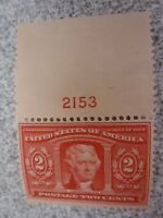 MNH & OG 1904 Louisiana Purchase #324 2 CENT Red/White With Numbered Top Salvage