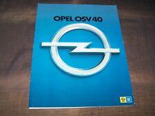 TOPRARITÄT Pressemappe Prospekt Opel ESV OSV 40 Sicherheitsautos 1971 1974 !!!