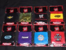 WWE WRESTLING WRISTBAND X8 DIFFERENT,SEALED.