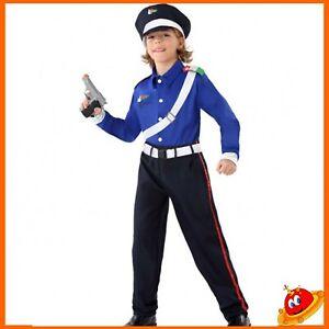 Costume Carnevale Bambino Ragazzo da Carabiniere Tg 5-7 anni