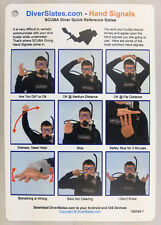 Hand Signals Dive Slates (2 Slates) -  Important Scuba Equipment for All Divers