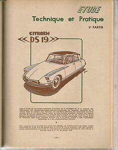 REVUE TECHNIQUE AUTOMOBILE 134 RTA 1957 CITROEN DS19 DS 19 (2/3)
