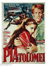 manifesto 2F film PIA DE' TOLOMEI Ilaria Occhini Jacques Sernas 1959 SIENA