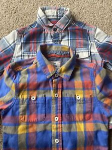 2 BOYS LOVELY CUTE CHECK SHIRTS AGE 3-4 MINI BODEN