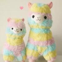 Kids Rainbow Alpacasso Kawaii Alpaca Llama Arpakasso Soft Plush Toy Doll Cute CN