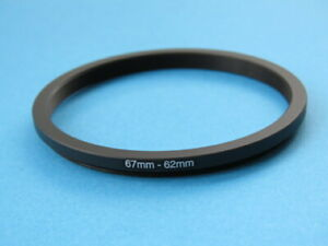 67mm to 62mm Stepping Step Down Ring Camera Lens Filter Adapter Ring 67-62mm