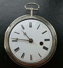 John Ward London Historische Große Silberne Englische Spindeltaschenuhr aus 1800