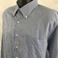 Peter Millar Men's Dress Shirt Size XL Long Sleeve Blue 100% Cotton