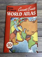 Vintage Maps Rand McNally Current Events World Atlas 1959 Paperback Book