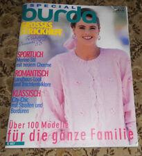 100 Modelle für die ganze Familie Burda 1988 Stricken Strickheft Handarbeitsheft