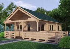 Alpholz Gartenhaus Gustav Holz 621x810 cm 44mm Satteldach Gartenhütte Blockhaus