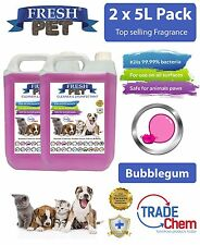 2 x 5L FRESH PET URINE SMELL ODOUR REMOVER  - BUBBLEGUM Fragrance - TRADE Chem