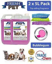 2 x 5L FRESH PET URINE SMELL ODOUR REMOVER  - BUBBLEGUM Fragrance - TRADE Chem