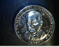 1982 Franklin D Roosevelt Coin, Gold/Silver Plated, High Grade (Us-4163)