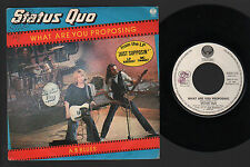 "7"" STATUS QUO WHAT ARE YOU PROPOSING / A B BLUES VERTIGO ITALY PROMO PUNCHED"