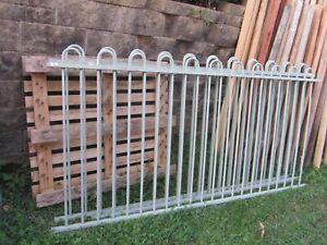 7 M Meters steel Garden/Pool Fence Panel, green, beautiful pattern 116 cm H