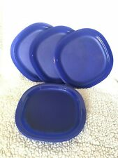 Tupperware Microwave Reheatable Luncheon plates LARGE in tokyo blue 9.5inch