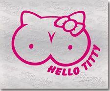 Hello Titty Sticker-cooler Fun Jdm Style Spaß Aufkleber-Kult Möpse Titten Decal