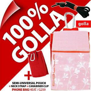 Golla Pink Phone Case Pouch Bag for iPhone 3GS 4 4S 5 5C 5S SE Samsung Galaxy S2