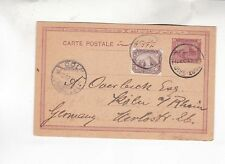 1902 3m stationery card + one stamp from port-said to germany      k1186