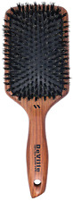 Spornette DeVille Cushion Paddle Boar Bristle Brush (#344) with Wooden Handle